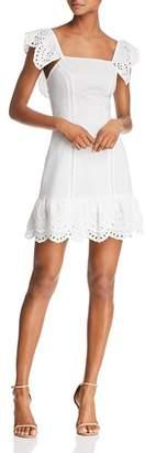 Finders Keepers Sundays Eyelet Mini Dress