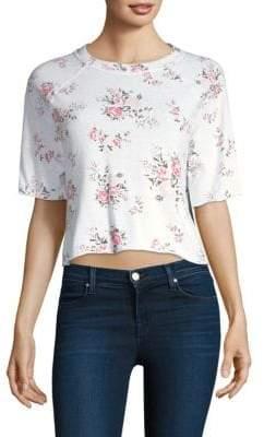 Monrow Rose Cutoff Sweatshirt