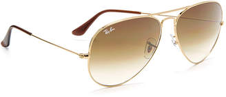Ray-Ban Oversized Aviator Sunglasses $165 thestylecure.com
