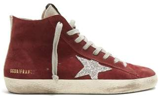Golden Goose Francy High Top Suede Trainers - Womens - Burgundy