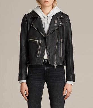 AllSaints Milne Vintage Leather Biker Jacket