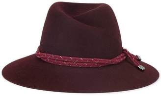 Maison Michel purple Virginie rope band rabbit felt hat