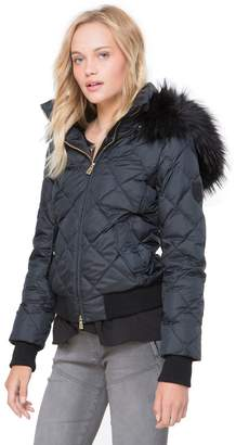 Juicy Couture Faux Fur Hood Puffer Jacket