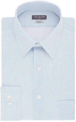 Van Heusen Flex Collar Regular Stretch Long Sleeve Twill Pattern Dress Shirt