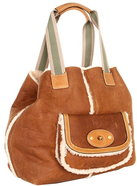 UGG Shearling Tote (Chocolate) - Bags and Luggage
