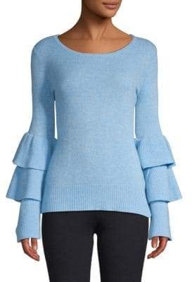 Qi Tiered-Sleeve Cashmere Sweater