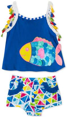 Rare Editions Baby Girls 2-Pc. Fish Tank Top & Shorts Set