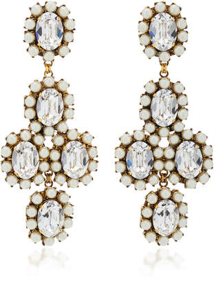 Erickson Beamon Funhouse 24K Gold-Plated Crystal And Pearl Earrings