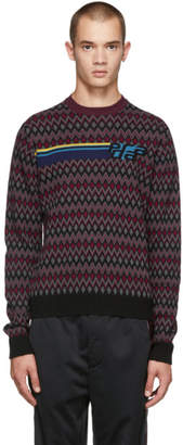 Prada Multicolor Patterned Logo Sweater