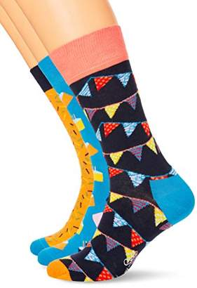 Happy Socks Women's Happy Birthday Gift Box Socks,(Manufacturer Size: 36-40) pack of 4