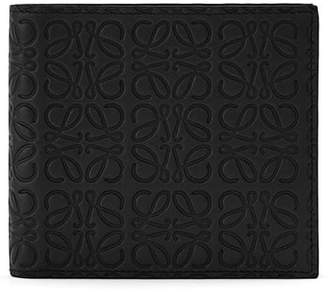 Loewe Logo Embossed Calfskin Leather Bifold Wallet