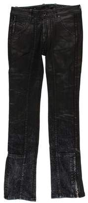 Diesel Black Gold Distressed Mid-Rise Jeans