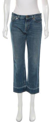 CelineCéline Cropped Straight-Leg Jeans