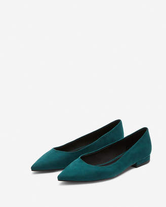 Express Faux Suede Pointed Toe Flats