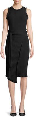 Milly Ruffled Tie-Waist Wrap Dress