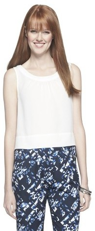 Mossimo Women's Crop Top - Gallery White
