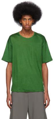 Issey Miyake Green Linen T-Shirt