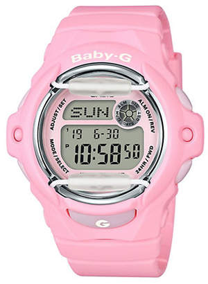 Casio Womens Retro-Pink Digital Baby G Watch