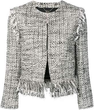 Twin-Set fringed boucle jacket