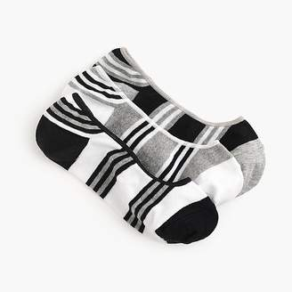 J.Crew No-show socks three-pack in black and white