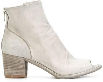 Officine Creative brushed open toe ankle boots