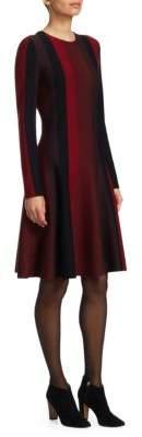 Akris Punto Vertical Stripe Knit Dress