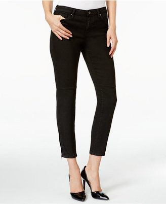 Calvin Klein Jeans Coated Black Wash Skinny Jeans $89.50 thestylecure.com