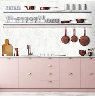 Graham & Brown Glitter Marble Tile White Wallpaper
