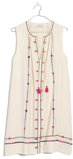 Women's Madewell Willow Embroidered Shift Dress