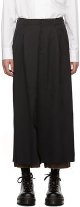 Sulvam Black Layered Skirt Trousers