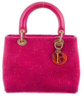 Christian Dior Tweed Medium Lady Bag