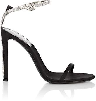 Saint Laurent Women's Kate Satin Sandals