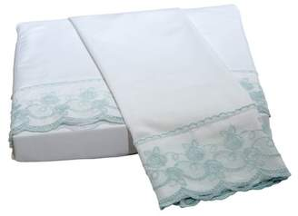 Belle Epoque Capri Lace Floral Queen Sheet Set