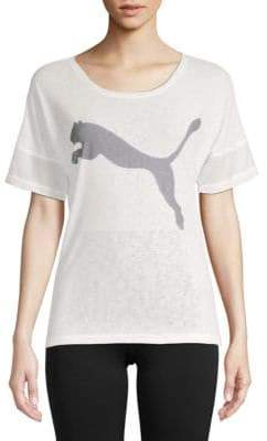 Puma Logo Loose Short-Sleeve Tee