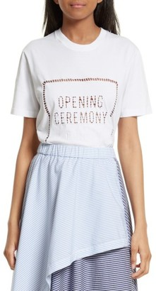 Women's Opening Ceremony Ladder Stitch Logo Tee $150 thestylecure.com