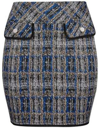 Dorothy Perkins Womens **Dp Curve Multi Colour Checked Boucle Mini Skirt