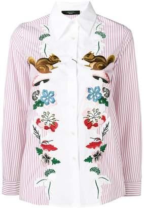 Max Mara embroidered striped shirt