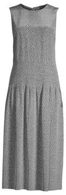 Lafayette 148 New York Women's Avalynn Confetti Print Sleeveless Dress - Rock Multi - Size XS