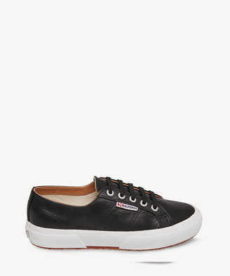 Superga Women's 2750 Nappaleau Leather Sneakers Black Size 6 From Sole Society