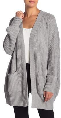 Woven Heart Knit Cardigan