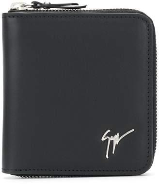 Giuseppe Zanotti Design zipped logo wallet