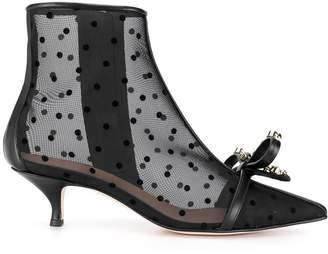 RED Valentino RED(V) polka dot mesh ankle boots