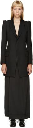 Yohji Yamamoto Black Cross-Section Long Blazer $2,450 thestylecure.com