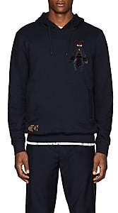 Fendi Men's Bug-Patch Cotton-Cashmere Hoodie-Navy