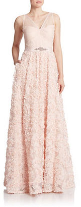 Adrianna Papell Rosette Gown $299 thestylecure.com