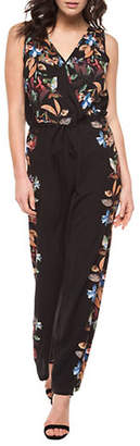 Dex Floral And Leaf Print Jumpsuit