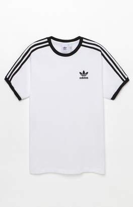 adidas 3-Stripes White and Black Ringer T-Shirt