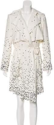 Haute Hippie Long Sleeve Midi Dress