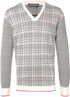 Alexander McQueen checked sweater