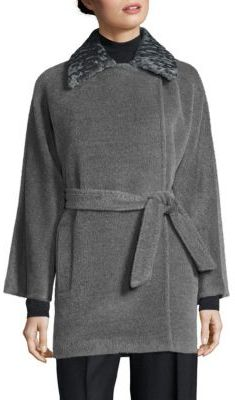 Max MaraMax Mara Demien Fur-Collar Wool & Alpaca Coat